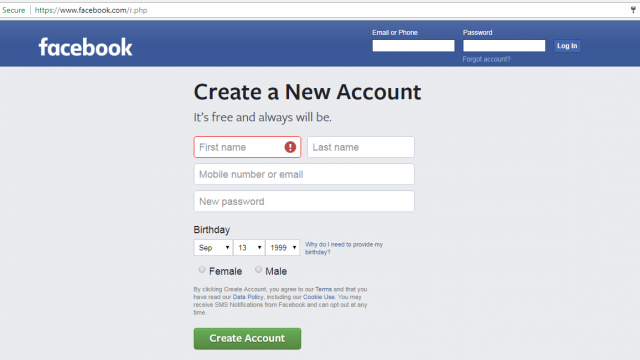 Come creare un account Facebook