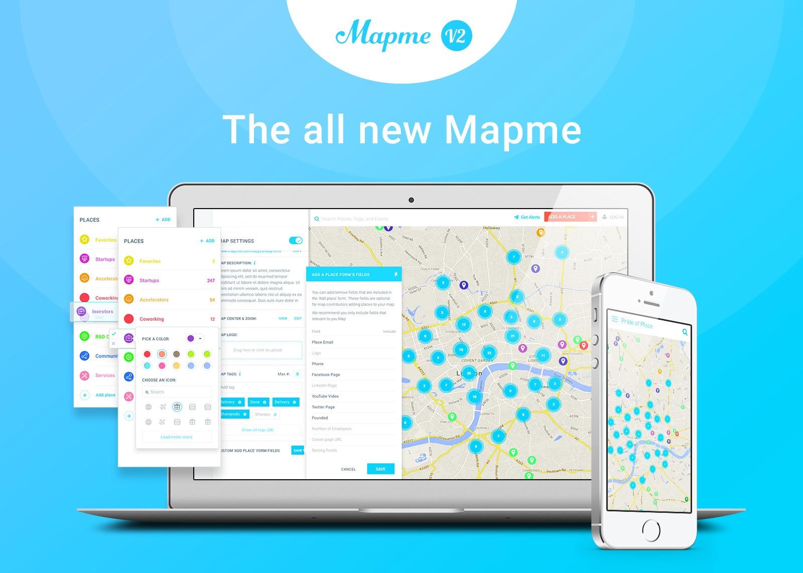"""MapMe come utilizzare la funzione """"scopri nelle vicinanze"""""""